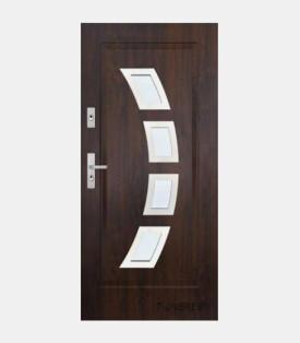 Вхідні двері KMT Plus 75 зі склом вуличні